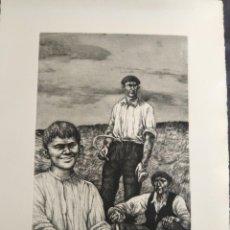 Arte: ANTONIO ZARCO FORTES AGUAFUERTE PRUEBA DE ARTISTA CRONICAS DE SIEMPRE V SERIE RURAL 1979. Lote 209709232