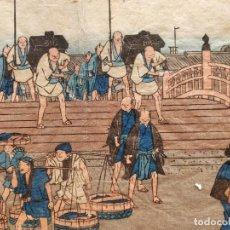 Arte: MAGISTRAL GRABADO JAPONES ORIGINAL D UTAWA HIROSHIGE, CIRCA 1830, XILOGRAFIA, MUY RARO, GRAN CALIDAD. Lote 209714396