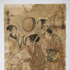 Arte: GRABADO JAPONÉS ORIGINAL DE UTAMARO, CIRCA 1780, XILOGRAFIA, MUY RARO, EXCELENTE CALIDAD. Lote 209715066