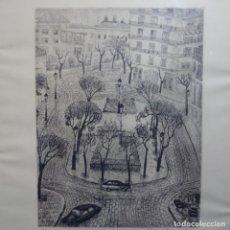 Arte: GRABADO DE CARME SERRA I CANTARELL (BARCELONA 1920-2018).PREMIO NACIONAL DE GRABADO.14/25. Lote 209725432
