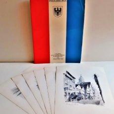 Arte: 1944 HEILBRONN 6 LAMINAS GRABADOS FIRMADOS - 25 X 34.CM ALEMANIA. Lote 209837238