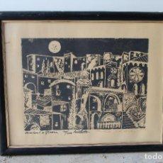 Arte: IMPRESIONANTE GRABADO GIRONA,FIRMADO Y NUMERADO, 130/200 AÑO 72. Lote 209889178