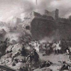 Arte: GRABADO DE LA BATALLA DE LLEIDA, CATALUÑA 1707, FELIPE V BORBON Y LA GUERRA DE SUCESIÓN CATALUÑA. Lote 210011676