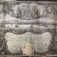 Arte: ACCION REAL AÑO 1757 COMPAÑIA BARCELONA. Lote 210023790