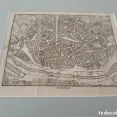 Arte: GRABADO PLANO MAPA DE VALENCIA SIGLO XVIII ANTONIO PONZ Y CRISTOBAL JACINTO BELDA PADRE TOSCA. Lote 210028930