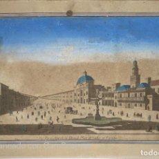 Arte: ANTIGUO GRABADO DE CADIZ. SIGLO XVIII. VÜE PERSPECTIVE DE LA GRANDE PLACE DE CADIX EN ESPAGNE. VER. Lote 210097473
