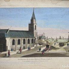 Arte: ANTIGUO GRABADO DE CADIZ. 1762. WICHNYTHER ED CHEREAU. VISTA DE LA IGLESIA DE SANTO DOMINGO DE CADIZ. Lote 210097967