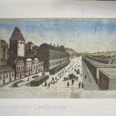 Arte: ANTIGUO GRABADO DE CADIZ. VISTA Y PERSPECTIVA DEL GRAN MERCADO CUBIERTO DE CADIZ. WICHNYTHER. 1766.. Lote 210100801
