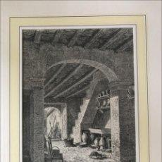 Arte: INTERIOR DE UNA VIVIENDA EN MARGARITA (MALLORCA, ISLAS BALEAERES, ESPAÑA), 1873. ANÓNIMO. Lote 210179095