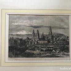 Arte: VISTA PANORÁMICA DE SANTIAGO DE COMPOSTELA (A CORUÑA, ESPAÑA), HACIA 1850. W. BAL. Lote 210180541