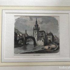 Arte: VISTA DE BILBAO (VIZCAYA) Y VITORIA (ÁLAVA) EN ESPAÑA, HACIA 1865. BERTRAND. Lote 210183847