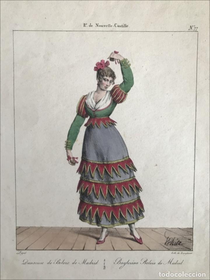 BALARINA DE BOLEROS DE MADRID (ESPAÑA), 1825. EDME-JEAN PIGAL/LANGLUMÉ (Arte - Grabados - Modernos siglo XIX)