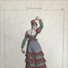 Arte: BALARINA DE BOLEROS DE MADRID (ESPAÑA), 1825. EDME-JEAN PIGAL/LANGLUMÉ. Lote 210285505