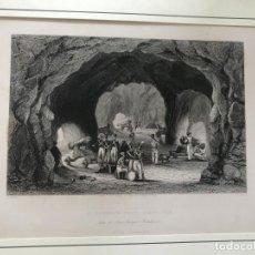 Arte: ARTILLERÍA EN CUEVA DE LA CIUDAD DE GIBRALTAR (SUR DE ESPAÑA), HACIA 1840. T. SALMON/G. PRESBURY. Lote 210337461