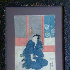 Arte: UKIYO-E - XILOGRAFÍA ORIGINAL DEL MAESTRO UTAGAWA KUNIYOSHI, AÑO 1849. PERIODO EDO. Lote 210343303