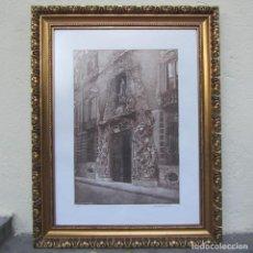 Arte: GRAN GRABADO ENMARCADO FACHADA PALACIO MARQUESES DOS AGUAS VALENCIA, VICENTE ARMIÑANA 1990. Lote 210418338