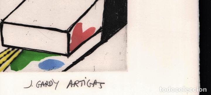 Arte: GARDY-ARTIGAS NATURALEZA MUERTA GRABADO ORIGINAL FIRMADO Y NUMERADO 72 / 75 A LÁPIZ ILUMINADO A MANO - Foto 6 - 210472637