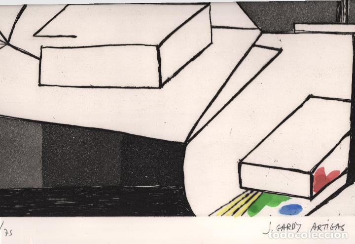 Arte: GARDY-ARTIGAS NATURALEZA MUERTA GRABADO ORIGINAL FIRMADO Y NUMERADO 72 / 75 A LÁPIZ ILUMINADO A MANO - Foto 7 - 210472637