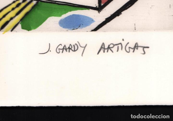 Arte: GARDY-ARTIGAS NATURALEZA MUERTA GRABADO ORIGINAL FIRMADO Y NUMERADO 72 / 75 A LÁPIZ ILUMINADO A MANO - Foto 9 - 210472637