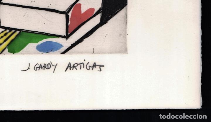 Arte: GARDY-ARTIGAS NATURALEZA MUERTA GRABADO ORIGINAL FIRMADO Y NUMERADO 72 / 75 A LÁPIZ ILUMINADO A MANO - Foto 11 - 210472637