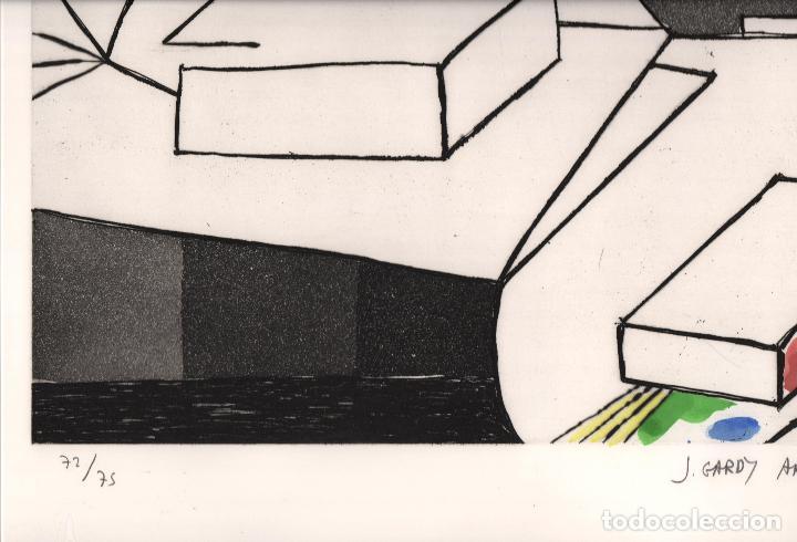 Arte: GARDY-ARTIGAS NATURALEZA MUERTA GRABADO ORIGINAL FIRMADO Y NUMERADO 72 / 75 A LÁPIZ ILUMINADO A MANO - Foto 15 - 210472637