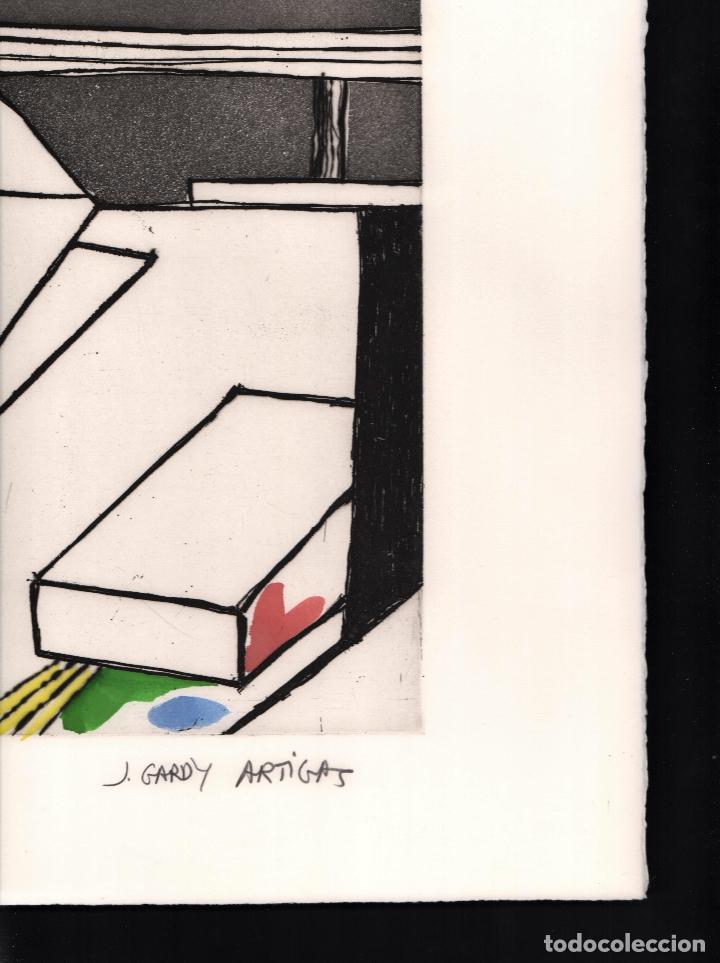 Arte: GARDY-ARTIGAS NATURALEZA MUERTA GRABADO ORIGINAL FIRMADO Y NUMERADO 72 / 75 A LÁPIZ ILUMINADO A MANO - Foto 20 - 210472637