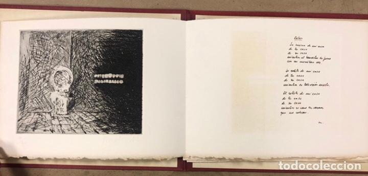 Arte: PORTFOLIO 6 GRABADOS ORIGINALES DE J.M. ELEXPURU Y 6 POEMAS DE M. JAUREGUI ESTAMPADOS A MANO - Foto 3 - 210614187