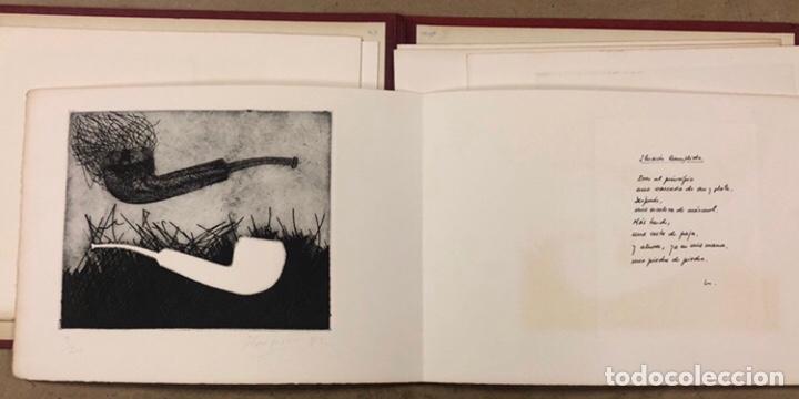 Arte: PORTFOLIO 6 GRABADOS ORIGINALES DE J.M. ELEXPURU Y 6 POEMAS DE M. JAUREGUI ESTAMPADOS A MANO - Foto 5 - 210614187
