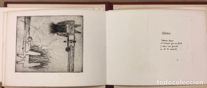 Arte: PORTFOLIO 6 GRABADOS ORIGINALES DE J.M. ELEXPURU Y 6 POEMAS DE M. JAUREGUI ESTAMPADOS A MANO - Foto 6 - 210614187