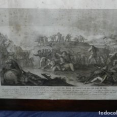Arte: (M) GRABADO ORIGINAL - VISTA DE LA BATALLA DADA EN LAS COLINAS DEL BRUCH EN CATALUÑA AÑO1808. Lote 210666541