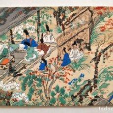 Arte: EXCELENTE GRABADO JAPONÉS ORINAL A MADERA, XILOGRAFÍA, MUY BUEN ESTADO. Lote 210727624
