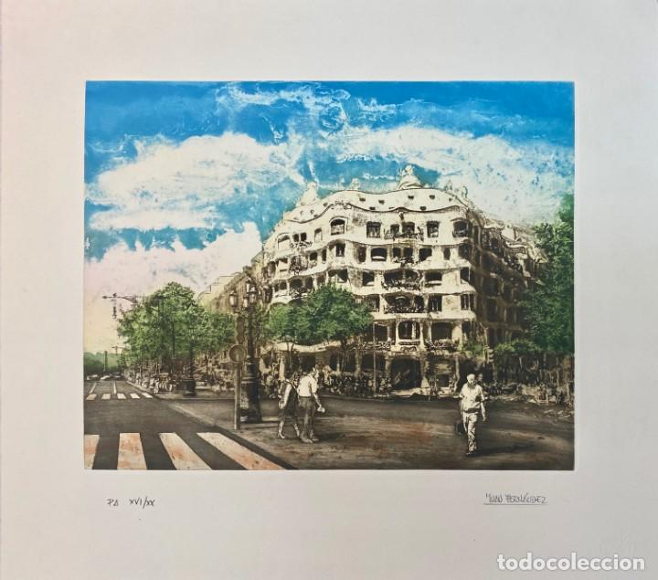 OBRA GRÁFICA ORIGINAL DE JUAN FERNÁNDEZ / CASA DE LA PEDRERA (Arte - Grabados - Contemporáneos siglo XX)