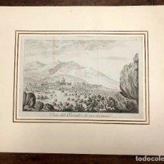 Arte: GRABADO VISTA DEL ESCORIAL Y DE SUS CERCANIAS. SIGLO XVIII. Lote 210841909