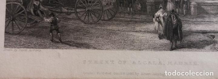Arte: Dos grabados de David Roberts. 1.- Calle De Alcalá (Cibeles). 2.- Puerta De Fuencarral - Foto 3 - 41261125