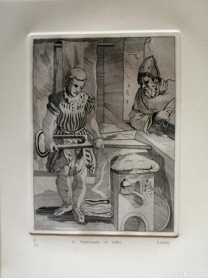 Arte: A. Santos ( Ángeles Santos?). Grabado firmado, titulado y numerado. - Foto 2 - 211413646