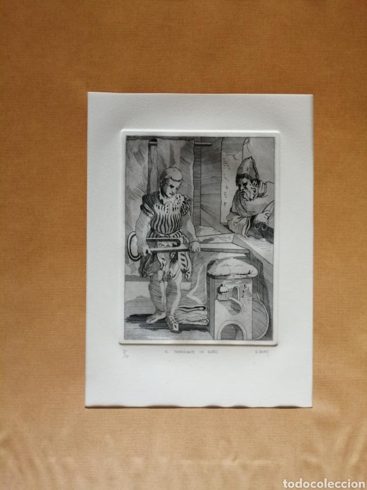 Arte: A. Santos ( Ángeles Santos?). Grabado firmado, titulado y numerado. - Foto 8 - 211413646