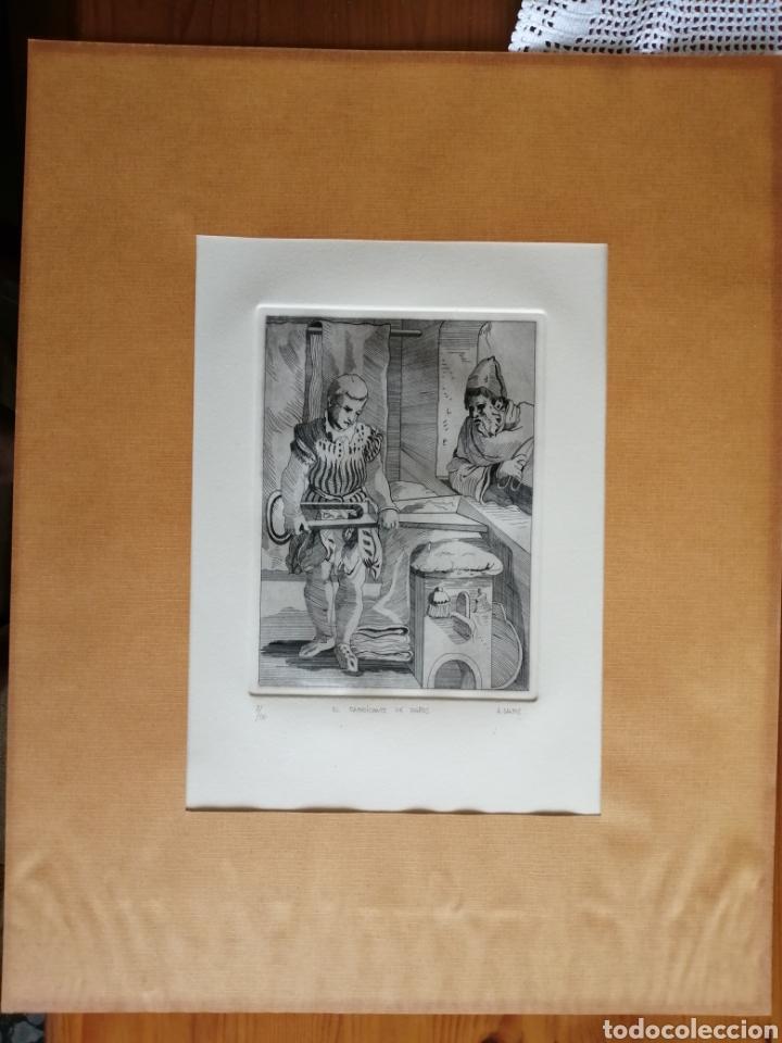 Arte: A. Santos ( Ángeles Santos?). Grabado firmado, titulado y numerado. - Foto 9 - 211413646