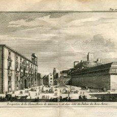 Arte: PERSPECTIVA DE LA CHANCILLERIA DE GRANADA. GRABADO POR ALVAREZ DE COLMENAR EN 1707. Lote 211481656
