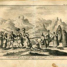 Arte: HABITS DES BISCAYENS& DES BISCAYENNES POR ALVAREZ DE COLMENAR, 1707. Lote 211482140