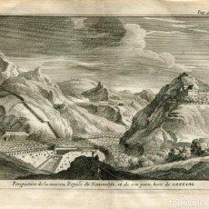 Arte: PERSPECTIVA DE LA MAISON ROYALE DE XENERALIFE ET SON PARC. ALVAREZ DE COLMENAR 1707.. Lote 211482357