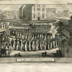 Arte: PROCESSION DES PELERINS Á COMPOSTELLE POR ALVAREZ DE COLMENAR, 1707. Lote 211482776