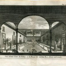 Arte: GRANADA. PALACIO Y BAÑOS DE LOS ANTIGUOS REYES MOROS POR ALVAREZ DE COLMENAR, 1707. Lote 211482975