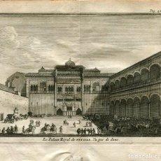 Arte: SEVILLA. EL PALACIO REAL. GRABADO POR PIETER VAN DER AA, 1707.. Lote 211483717