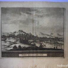 Arte: GRABADO ANTIGUO. VISTA BURGOS. LES DELICES ESPAGNE ET DU PORTUGAL (ESPAÑA) PIETER VAN DER AA. Lote 211499367