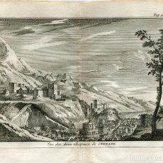 Arte: GRANADA. VISTA DE LOS CASTILLOS. ALVAREZ DE COLMENAR, 1707. Lote 211502616