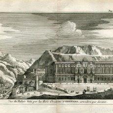 Arte: GRANADA. PARTE DELANTERA DEL PALACIO DE LOS REYES CRETIENSES. ALVAREZ DE COLMENAR, 1707. Lote 211503605