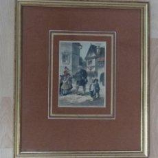 Arte: VIEJO MÚSICO TOCANDO PARA NIÑOS, HACIA 1850. A. BRUNER. Lote 211574176