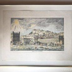 Arte: VISTA DE LISBOA - CAIS DAS COLUNAS (PORTUGAL), HACIA 1970. CURONI/J.P. MONTEIRO. Lote 211576027
