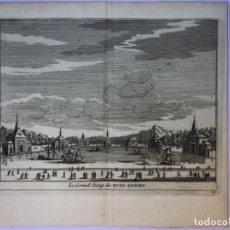 Arte: GRABADO ANTIGUO. ESTANQUE BUEN RETIRO MADRID (ESPAÑA) DELICES ESPAGNE. VAN DER AA. AÑO 1715. Lote 211578626