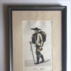 Arte: OFICIOS ANTIGUOS: VENDEDOR AMBULANTE DE ZAPATOS, HACIA 1808. C. SUHR. Lote 211615024